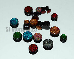Sparkly-Glitter-Ear-Stretcher-Plug-Choice-of-Size-and-Colours-5mm-to-14mm