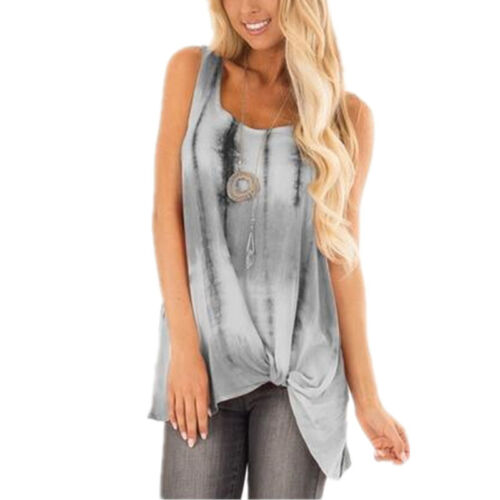 Women Sleeveless Vest Summer Loose Tops Casual T-Shirts Camisole Tank Holiday