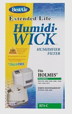 New BEST AIR H75 Humidifier Wick Filter Circular Holmes Westinghouse Bonair | eBay