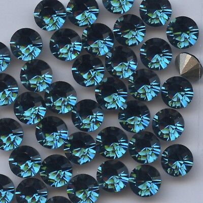 1028 SS34 RW *** 12 Strass Swarovski  fond conique 7,2mm ROSE WATER OPAL F