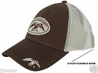 Authentic Duck Commander Flex Fit Cap / Hat Cotton Polyester Blend Brown & White