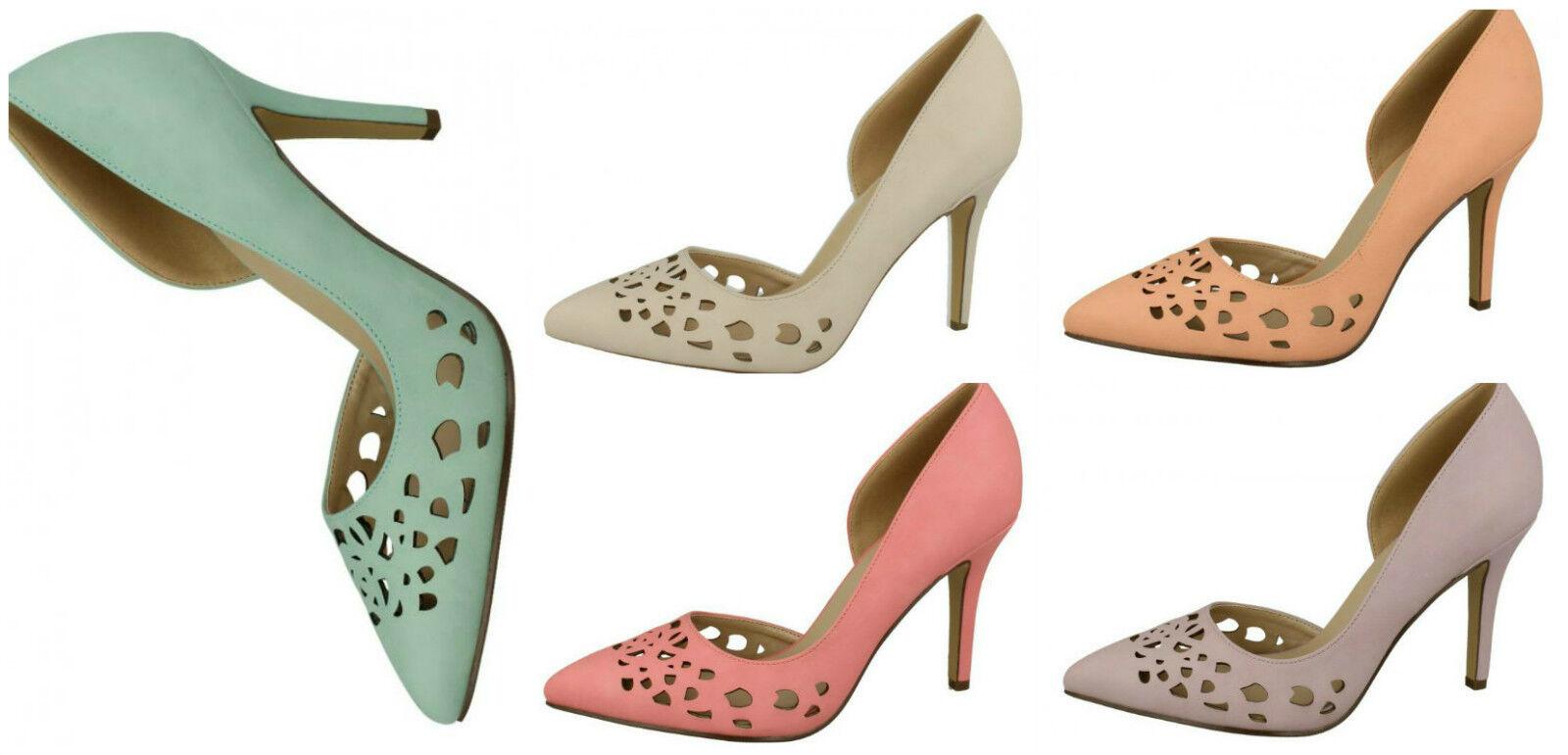 F9913- Ladies Anne Michelle Cut Out Colours- Court Shoes- 5 Pastel Colours- Out Great Price c443ed