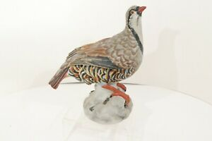 Vintage-Bird-Partridge-Quail-Figurine-Made-Italy-Porcelain-Ceramic-Hand-Painted