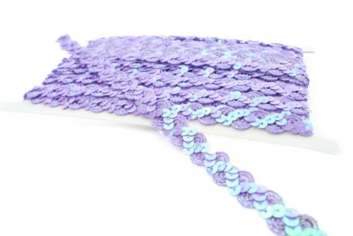 Crafting 14mm Metallic and Sequin Trim in for Bridal Fashion 10 Meter on card