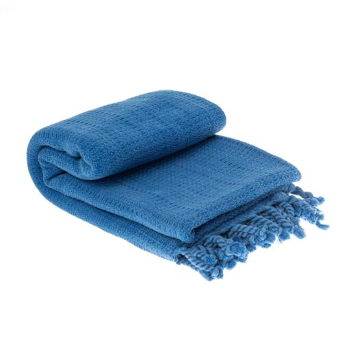 Saunatuch Hamamtuch Badetuch einfarbig Streifen Fransen 100 /% Baumwolle 85x170