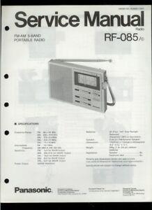 panasonic rf 085 c am fm mw sw portable radio original factory rh ebay com Panasonic Cordless Phones Panasonic Owner's Manual