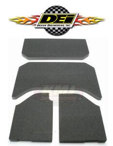 2007-2010 Design Engineering 050131 Boom Mat Sound-Deadening Headliner for 4-Door Jeep Wrangler Black