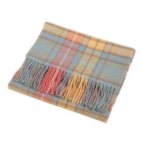 Edinburgh 100/% Lambswool Luxury Scottish Tartan Scarf Buchanan Antique