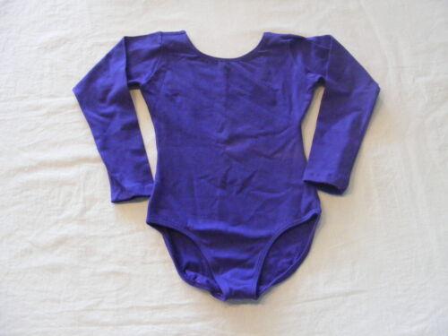 Eurotard 10408 Purple Intermediate 6-8 Slight Faded Child Long Sleeve Leotard