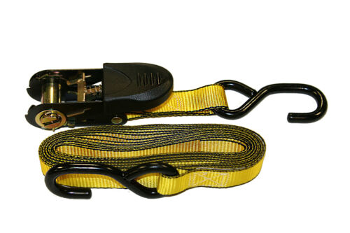 Ratchet Tie Down Rubber Handle Motorcycle Strap//Pouch//4pk 1 in x 10 ft