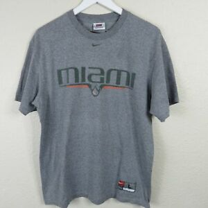 Nike-Team-University-of-Miami-Hurricanes-T-Shirt-Men-039-s-Size-Large