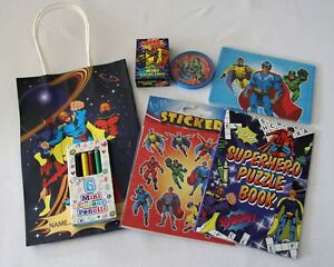 Image Is Loading Superhero Themed Kids 039 S Party Bags Pre