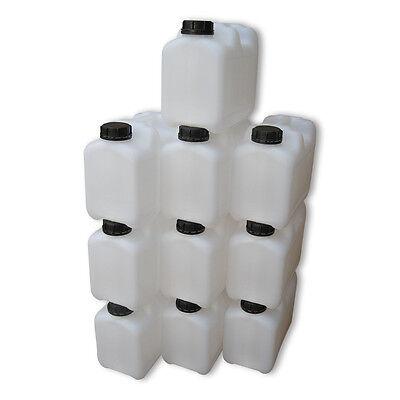 5 x 5 Liter weiß CK Kanister Camping Outdoor Getränkekanister lebensmittelecht