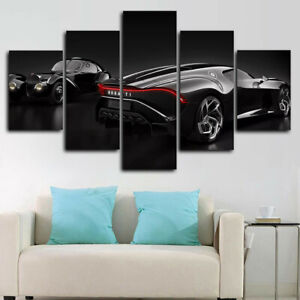 Car Evolution 5 Panel Canvas Print Wall Art Poster Home Decoration