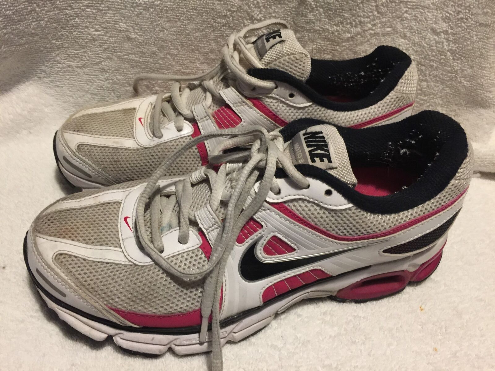 Used/Worn Nike size Air Moto8 Womens size Nike 7.5 running shoes 2cc937