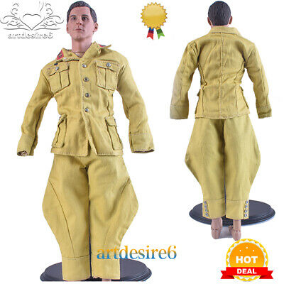 """1//6 WWII German Officers Soldiers White Shirt Uniform Fit 12/"""" Action Figure Body"""