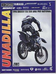 Vintage Unadilla Nationals 1996 AMA Motocross Program John Dowd Yamaha