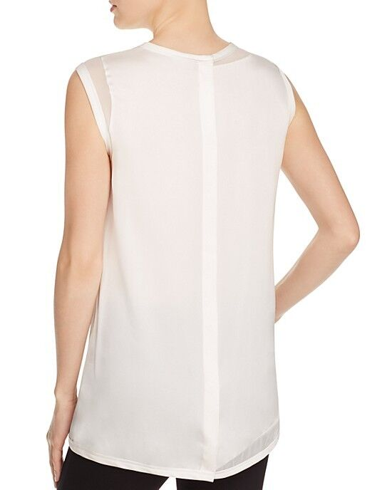 DKNY Stretch Silk Sheer Panel Top Size P  Q 13 MSRP