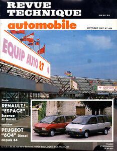 Rta Revue Technique Automobiles N° 484 Renault Espace 1 Essence Diesel Riche Et Magnifique