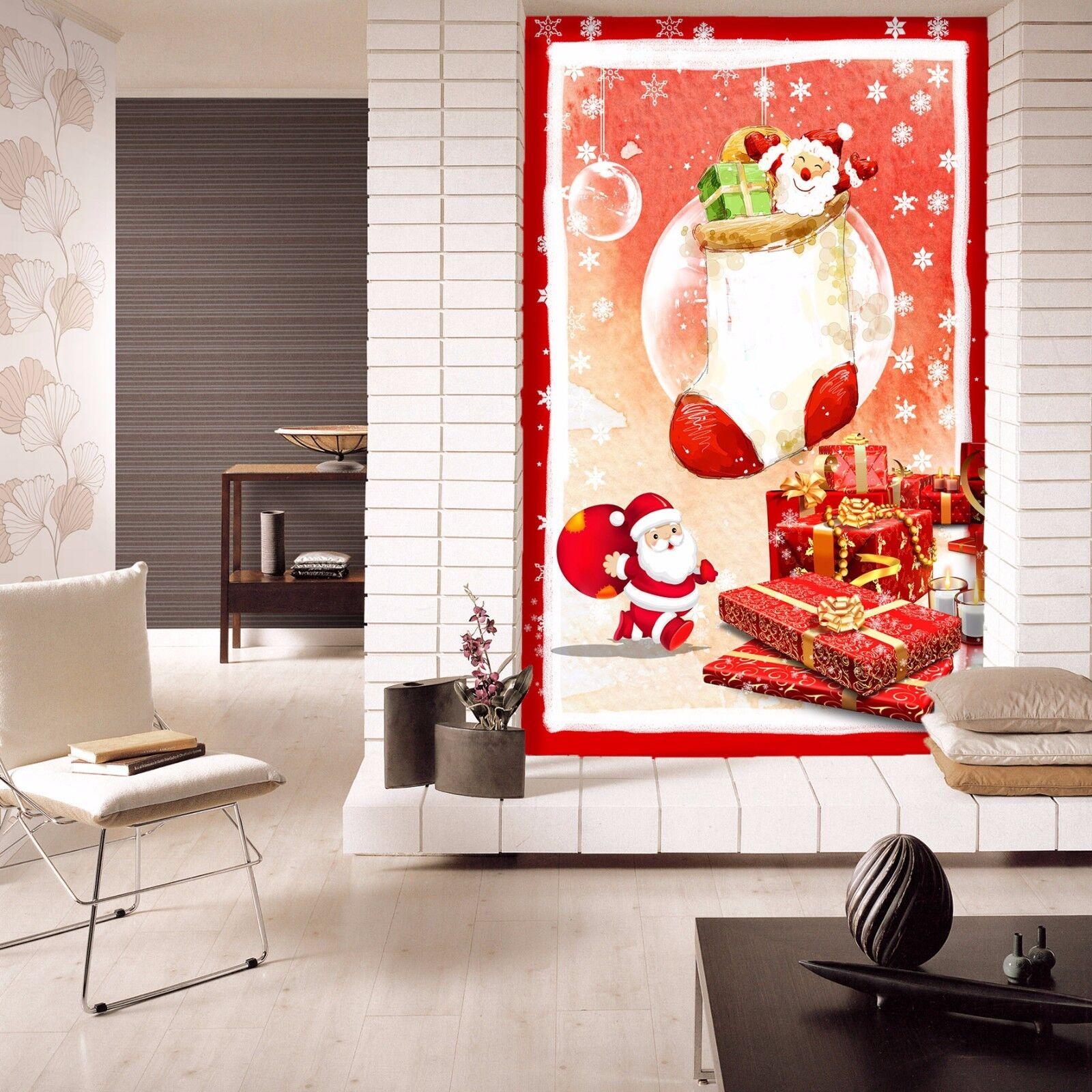 3D Happy Santa Claus 7 Wallpaper Mural Paper Wall Print Wallpaper Murals Lemon