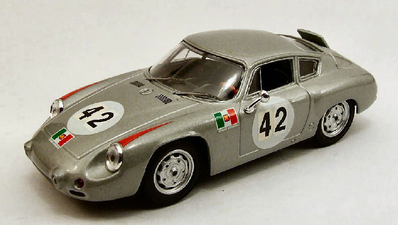 Porsche Abarth  42 6th Targa Florio 1962 H Herrmann H. LINGE 1 43 MODEL