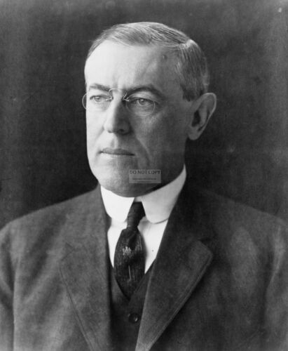 PRESIDENT WOODROW WILSON 28TH PRESIDENT OF THE UNITED STATES 8X10 PHOTO AA-044