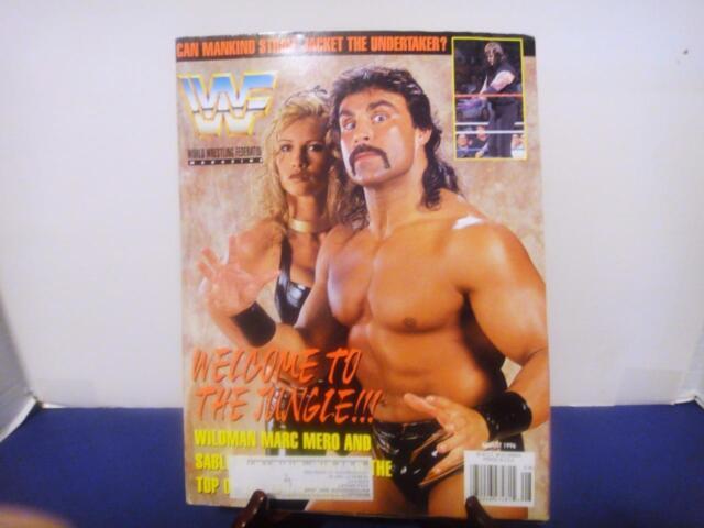 WWF/WWE Magazine August 1996 Issue Mark Mero Cover