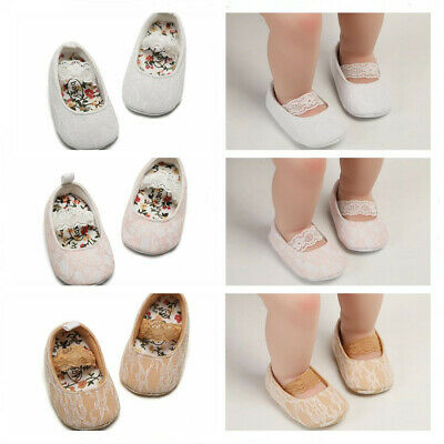So Lovely Newborn Baby Girl Laces Pram Shoes Infant Crawling Shoes First Trainer