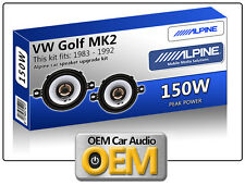 "VW Golf Mk2 Anteriore DASH ALTOPARLANTI ALPINE 3.5 "" 87cm Auto Altoparlante KIT 150W MAX POWER"