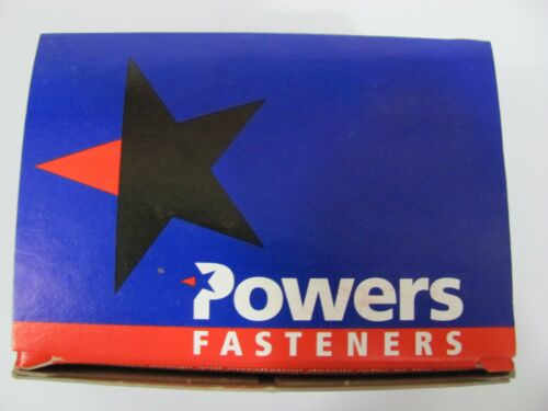 NEW Box Of 100 POWERS Rawl Fasteners 3794 Zinc Plated Forming Spike 2-3//4 X 1//4/""