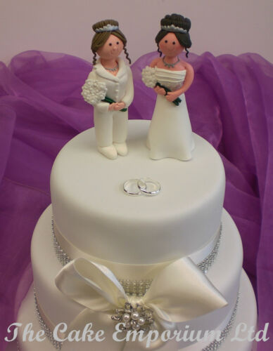 Civil Partnership Lesbian Wedding Cake Toppers Weddings