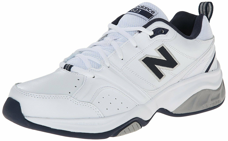 New Balance Men's MX632WN2 Leather Cross Training shoes White Navy