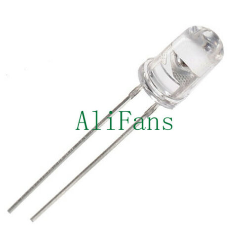 50PCS 5mm Round Blue Water Clear LED Light Diodes Kit