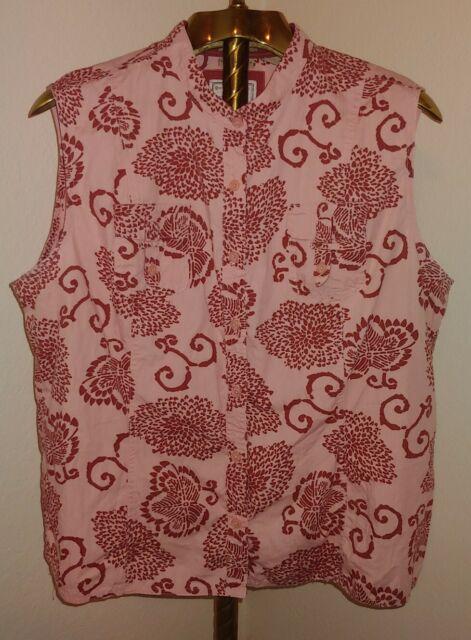 RUFF HEWN Pink Floral Sleeveless  Top Tank Sz 1X New