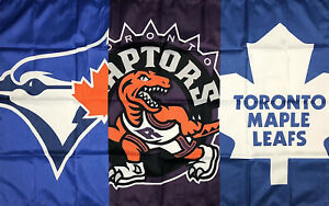 Toronto-Blue-Jays-Raptors-Maple-Leafs-Flag-3x5-ft-Sports-Banner-Man-Cave-Garage