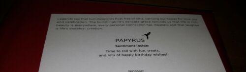 PAPYRUS Happy Birthday  Sushi Card Matching Envelope Seal Sashimi Fish Chopstick
