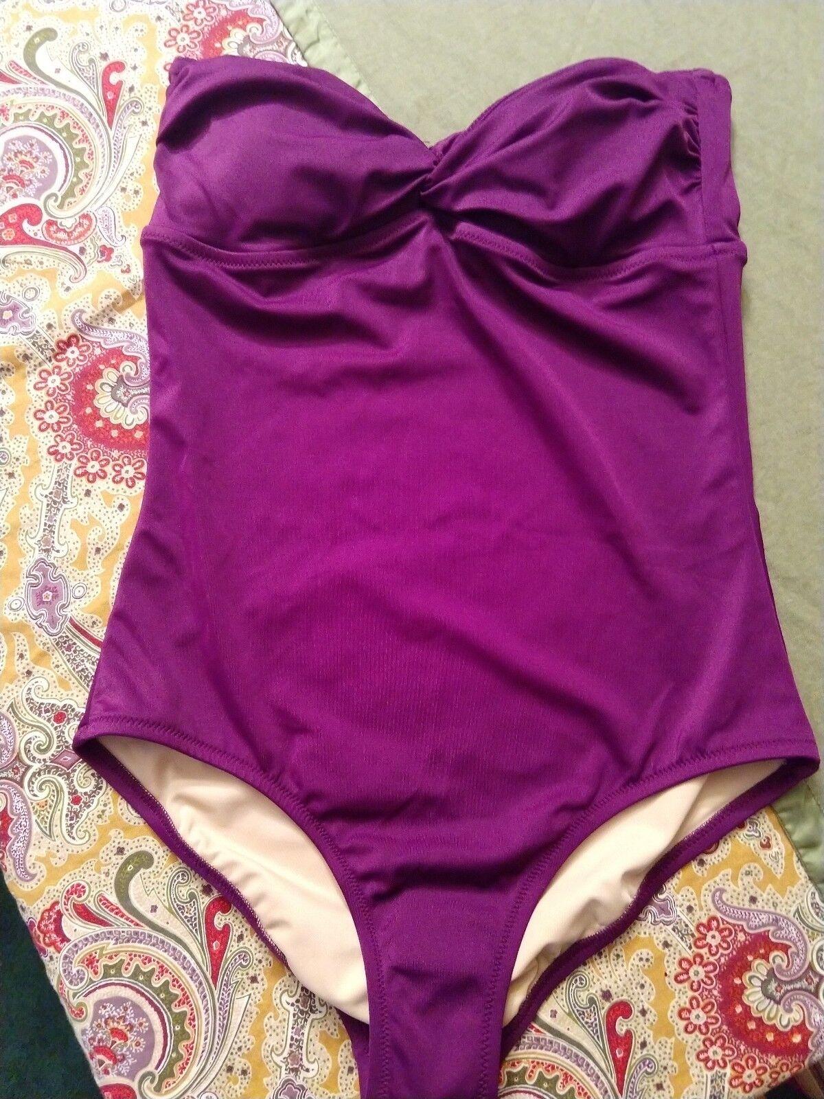 Jcrew Bathing Suit Lot Purple Navy Size 8