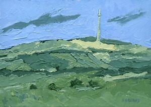 Emley-Moor-TV-Mast-ORIGINAL-LANDSCAPE-PAINTING-Steve-Greaves-Yorkshire-Art-Tower