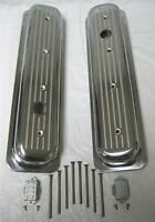 Whole Sale Close Out Sb Chevy Polished Center Bolt Ball Milled Valve Covers Sbc