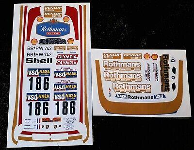 Porsche 959 1//12 RC Stickers Decal Sheet Precut Customized plus white Lettering