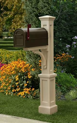 MAYNE 5813C Newport Plus Mailbox Post- Clay