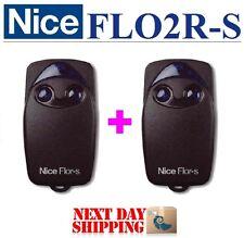 2 X NICE FLO2R-S Sender 2-Kanal FLOR-S handsender, Remote control transmitter