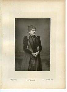 Vintage-Cabinet-Card-W-amp-D-Downey-Lady-Lillian-June-Henschel-Singer