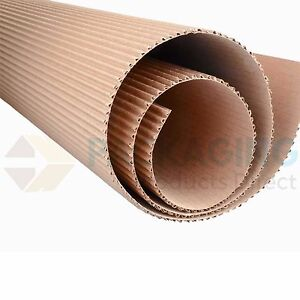 Details about 450mm x 25M CORRUGATED CARDBOARD PAPER ROLL 25 METRES