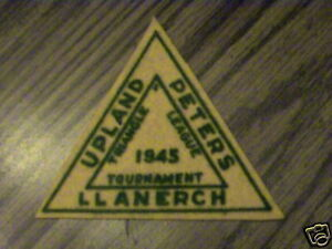 1945 Upland Peters Llanerch Triangle Ligue Tourné. Patch-afficher Le Titre D'origine