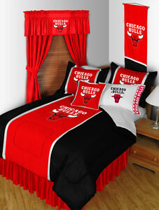 Chicago Bulls 3 Pc Full Queen Bedding Set 1 Comforter 2 Pillow Cases Ebay