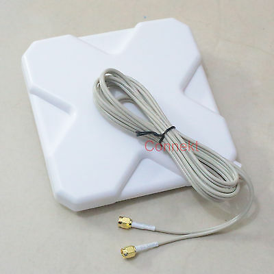 GPRS GSM 3G 4G LTE SMA plug 35dBi antenna 2M cable 791 2690MHz Booster Signal