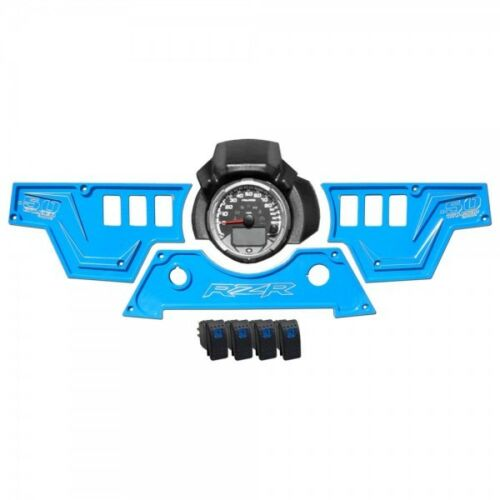 XP1000 3 Piece Dash Panel Blue With Switches Billet Aluminum Kit S900 LE Voodoo