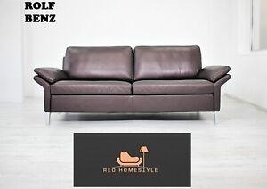 Rolf Benz Designer Sofa Leder Couch Braun Dreisitzer ...