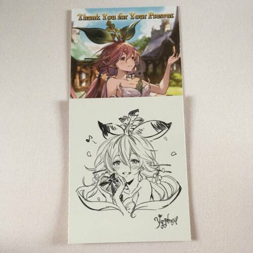 Granblue Fantasy Yggdrasil Valentine Card and Shikishi Limited Japan Authentic